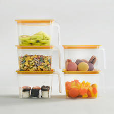 乐博乐博 厨房密封保鲜盒 5只 单只1.4L可容纳15个鸡蛋 19.9元包邮