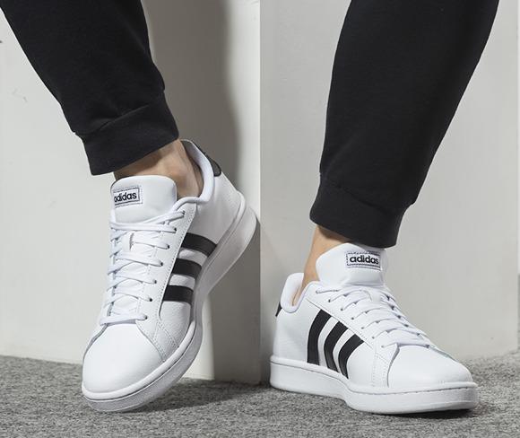折合217.49元 Adidas阿迪达斯GRAND COUR中性款板鞋