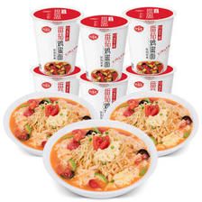 海福盛 方便面 番茄鸡蛋面 非油炸FD冻干面 泡面杯面 六杯装70g*6 *3件 83.79元