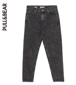 ¥79 PULL&BEAR 黑色纯棉牛仔裤女
