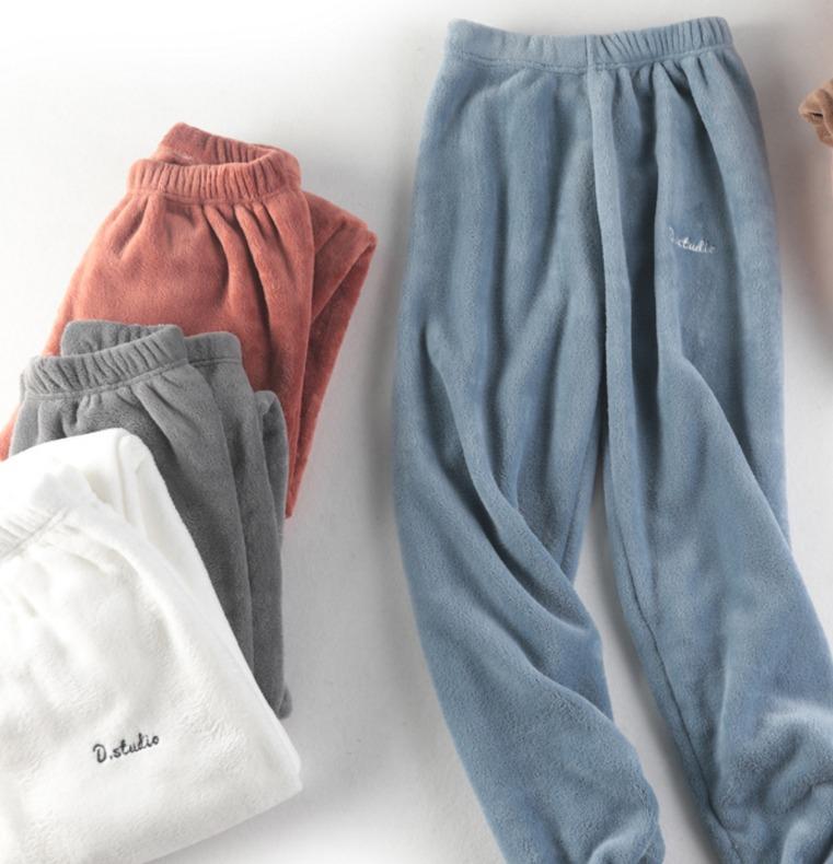 ¥21.8 澳苑 AY-nnk002 女款珊瑚绒家居裤