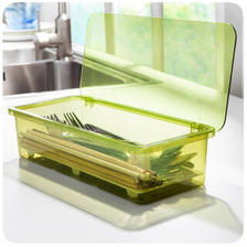 沥水防尘餐具收纳盒 简约时尚筷子盒 12.9元