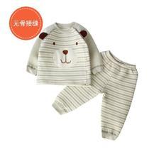 派仁小镇 婴幼儿卡通造型彩棉夹棉保暖家居服套装 0-3岁 *5件 142.1元(合28.42