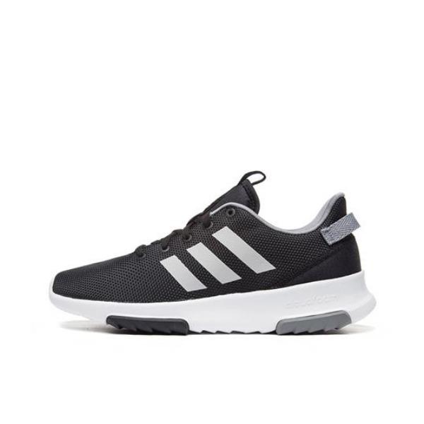 【返场识货】adidas Cloudfoam Racer 休闲运动鞋 黑白灰 聚划算到手仅需209