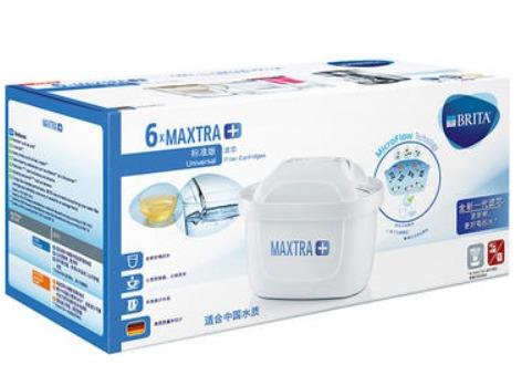 ¥169 德国碧然德 BRITA MAXTRA+家用厨房滤水壶标准版滤芯6枚