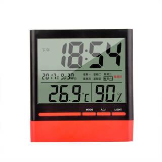 新绿天章 电子温湿度计 办公家用室内外温度计 测温计 湿度计升级多功能日历时钟星期夜光款 *3件 107元(合35.67元/件)