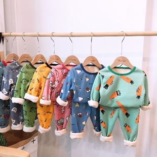 garysoon 冬季保暖加绒宝宝套装 券后¥18.99