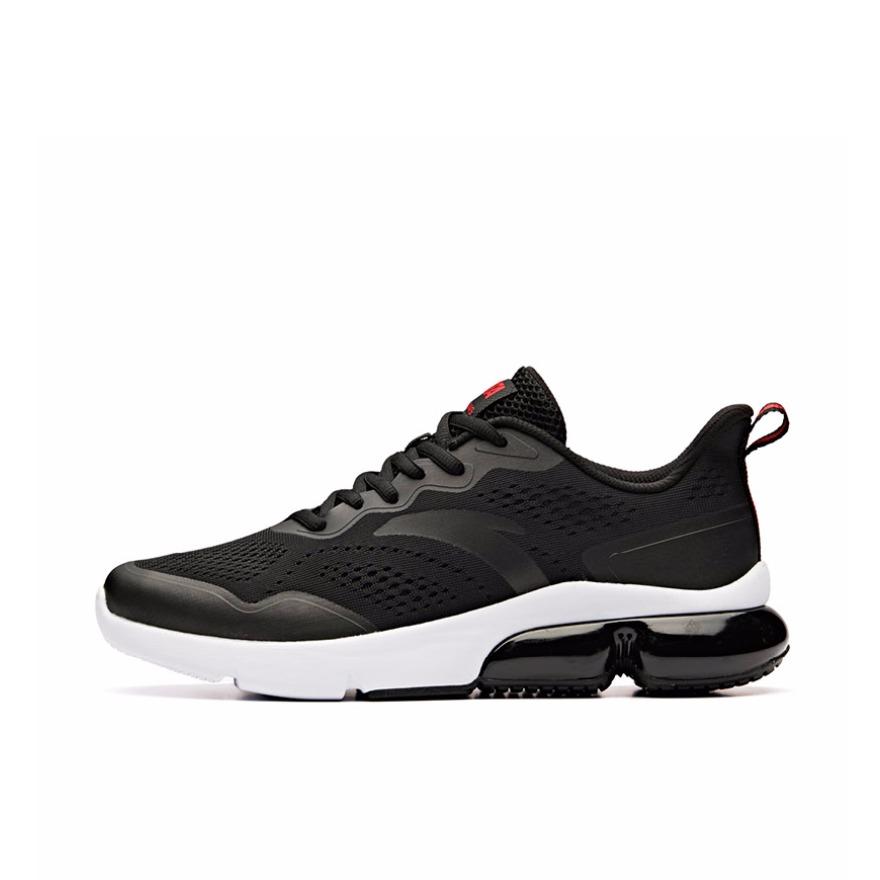 安踏 轻便舒适跑鞋 91925512 黑白 到手价279