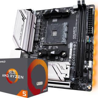 技嘉(GIGABYTE) B450 I AORUS PRO WIFI 主板 AMD 锐龙 Ryzen 5 2600X CPU处理器 板U套装 1799元