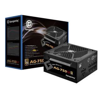 美商艾湃电竞(Apexgaming)AG-750M 额定750W 台式机电源(80PLUS金牌/全模组/日系电容/十年质保) 399元