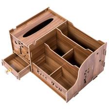 创意纸巾盒桌面收纳抽纸盒 客厅 遥控器整理盒欧式简约纸抽盒家用 9.9元