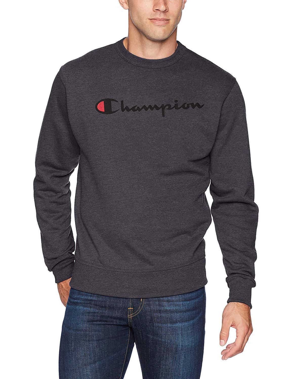 ¥92.94 Champion 男式图案高强度羊毛圆领衫