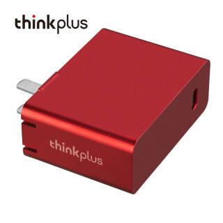 联想(thinkplus)随身充 便携电源适配器USB-C 65W红色(3050) 99元