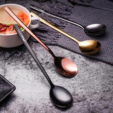 304不锈钢勺子儿童可爱长柄韩式吃饭小汤勺调羹汤匙家用圆头勺子  券后6.9