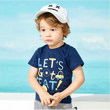 京东商城 多色可选:Miiow 猫人 儿童印花短袖T恤 *4件 54.6元包邮(双重优惠
