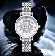 4倍差价:阿玛尼 镶钻满天星系列 女士手表 AR1925 双重优惠后839元包邮(天