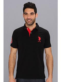 折合158.33元 U.S. POLO ASSN. 男士修身款大logo polo衫